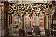 TQ2479 : St John the Baptist Church, Holland Road, London W14 - Sanctuary detail by John Salmon