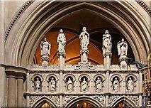 TQ2479 : St John the Baptist Church, Holland Road, London W14 - Screen by John Salmon