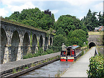 SJ2837 : Aqueduct, viaduct and tunnel at Chirk by Richard Green