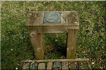 SK3455 : Bench, Crich Tramway Village by P L Chadwick