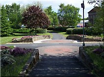 SJ9223 : Garden In Centre of Roundabout, Stafford by Geoff Pick