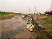TA0623 : Barrow Haven: the Beck approaches the Humber by Chris Downer