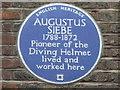 Photo of Augustus Siebe blue plaque
