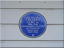 TQ2879 : Blue Plaque ' Field Marshal Viscount Gort, V.C by PAUL FARMER