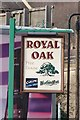 SK3892 : The Royal Oak Pub Sign, Blackburn Road, Sheffield by Terry Robinson