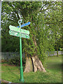 TQ4475 : Signpost in Eltham Park by Stephen Craven