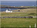 HU1757 : Farmland at Huxter by Stuart Wilding