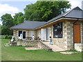 ST8060 : Cricket pavilion, Winsley CC by Virginia Knight
