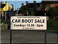J5081 : Car boot sale sign, Queen's Parade by Rossographer