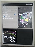 TQ1985 : Wembley City information board, Engineers Way, Wembley by Robin Sones