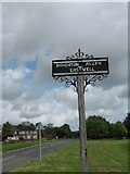 TR0247 : Boughton Aluph and Eastwell Village Sign by David Anstiss