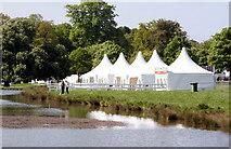 ST8083 : Hospitality tents, Badminton Lake by Chris Denny