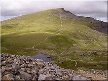 SH6358 : Llyn y Cŵn and Y Garn by Kenneth Yarham