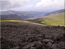 SH6358 : Llanberis from the slopes of Glyder Fawr by Kenneth Yarham