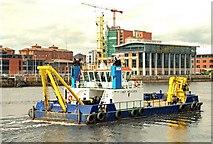 J3474 : Dredging the Lagan, Belfast by Albert Bridge