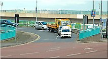 J3474 : The Station Street/Bridge End flyover, Belfast (3) by Albert Bridge
