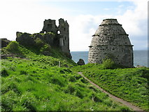 NS2515 : Dunure Castle and Dovecot by G Laird