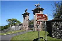 C7535 : Lions Gate, entrance to Mussenden Temple by Des Colhoun