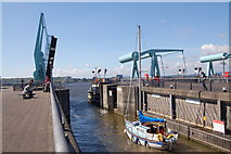 ST1972 : Leaving the lock on the Cardiff Bay barrage by Roger Davies