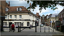 SU4829 : Street Scene, Winchester by Peter Trimming