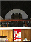 TM3569 : The Organ & Font of St.Michael's Church,Peasenhall by Adrian Cable