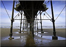 NZ6621 : Underneath Saltburn Pier by Nick Webley