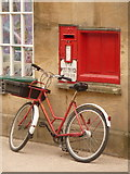 ST6834 : Bruton: postbox № BA10 123, High Street by Chris Downer