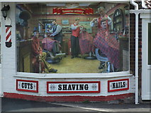 SK6443 : The feature window at the Barber's shop by johnfromnotts