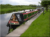 SD4520 : Boats on the Rufford Branch of the Leeds Liverpool Canal by Robert Wade