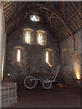 ST5038 : The Abbey barn at the Somerset rural life museum by Pam Goodey