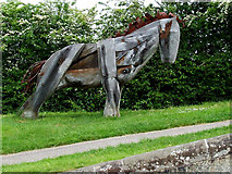 SJ6352 : Canalside Horse Sculpture, by Nantwich Basin, Cheshire by Roger  Kidd