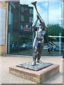 NS6067 : Statue outside Springburn Leisure Centre by Stephen Sweeney