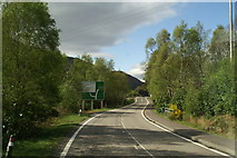 NM7682 : The A861 turning to Strontian off the A830, the Road to the Isles by David Long
