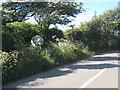 SW4224 : Ancient roadside cross near Boskenna Nurseries by Rod Allday