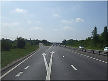 SK7964 : A1 Southbound Carlton junction by Glyn Drury