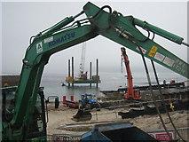 SW3526 : Works progressing on the new slipway by Rod Allday