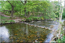 NY1700 : Stepping Stones across the River Esk south of Boot by N Chadwick