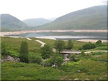 NN3268 : Bridge over Allt Crunachgan by Richard Webb