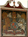 TM4295 : St Margaret's church - George II royal arms by Evelyn Simak