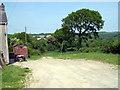 SN2337 : Footpath leaves Parc-Clement farm for Cwm-blaen-bwlan by John Duckfield
