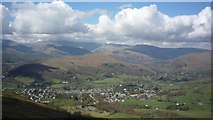 NY3704 : Ambleside from Wansfell by DS Pugh