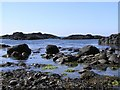 D0345 : Rocky shoreline, Ballintoy by Kenneth  Allen