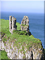 C9844 : Dunseverick Castle (close-up) by Kenneth  Allen