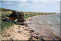 ND4798 : Boat and creels on Glimps Holm by Bob Jones