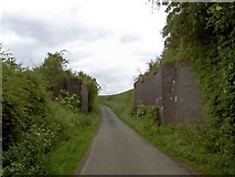SK4995 : Bridge abutments on Armour Lane to Firsby by Steve  Fareham
