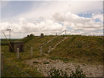 ST6700 : Cerne Abbas: reservoir and trig point, St. Catherine's Hill by Chris Downer