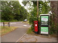 SU1203 : St. Ives: postbox № BH24 3 and phone, Ringwood Road by Chris Downer