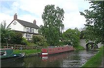 SJ8512 : Pub, canal and bridge at Wheaton Aston, Staffordshire by Roger  Kidd