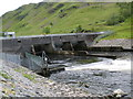 NN0428 : The Awe Barrage at the Pass of Brander by John Ferguson