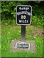 SP7350 : Milepost 20 on the Grand Union Canal by Mike W Hallett